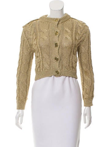 Burberry Cropped Button-Up Cardigan None