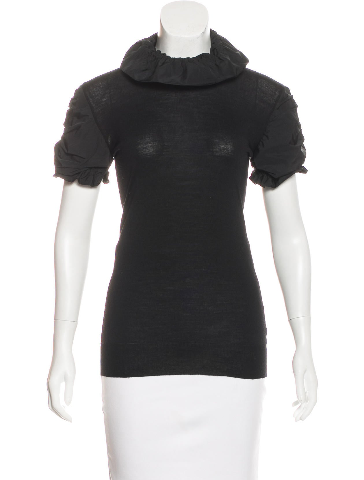 Burberry wool short sleeve top clothing bur80287 the for Best wool shirt jackets