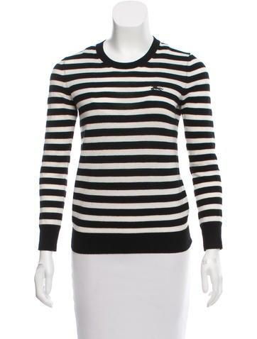 Burberry Striped Cashmere Sweater None