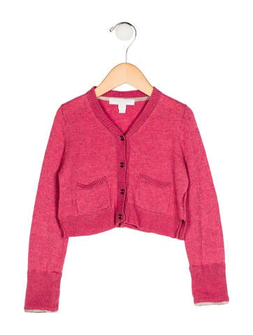 Burberry Girls' Cashmere-Blend Cardigan None