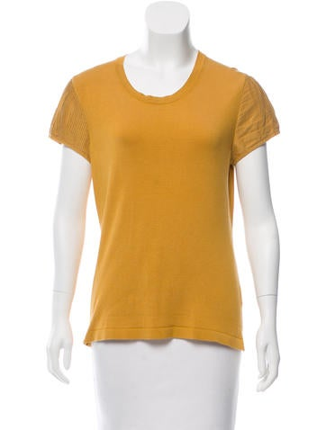 Burberry Contrasted Knit Top None