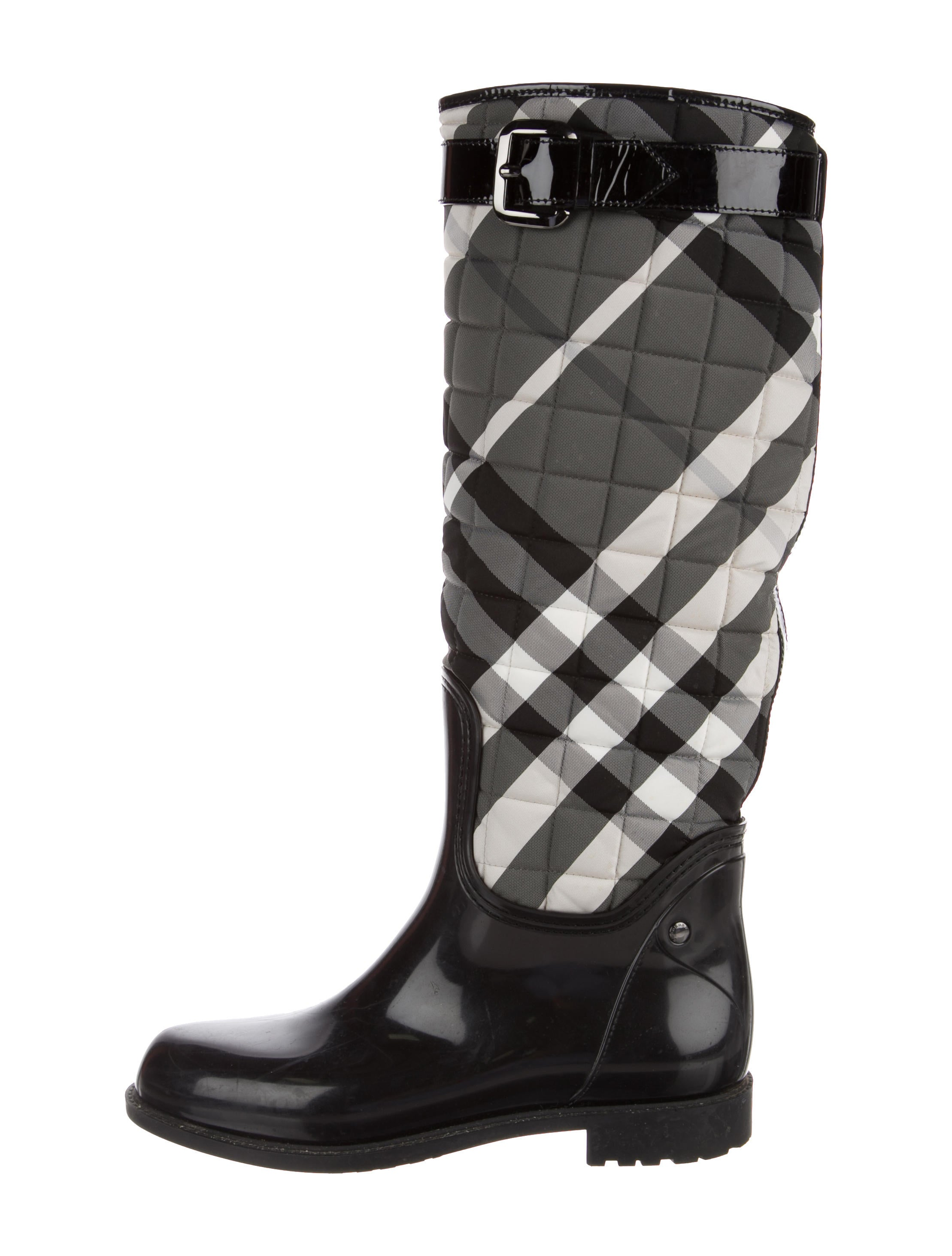 Burberry Quilted Beat Check Rain Boots - Shoes - BUR81974 | The ... : burberry quilted rain boots - Adamdwight.com