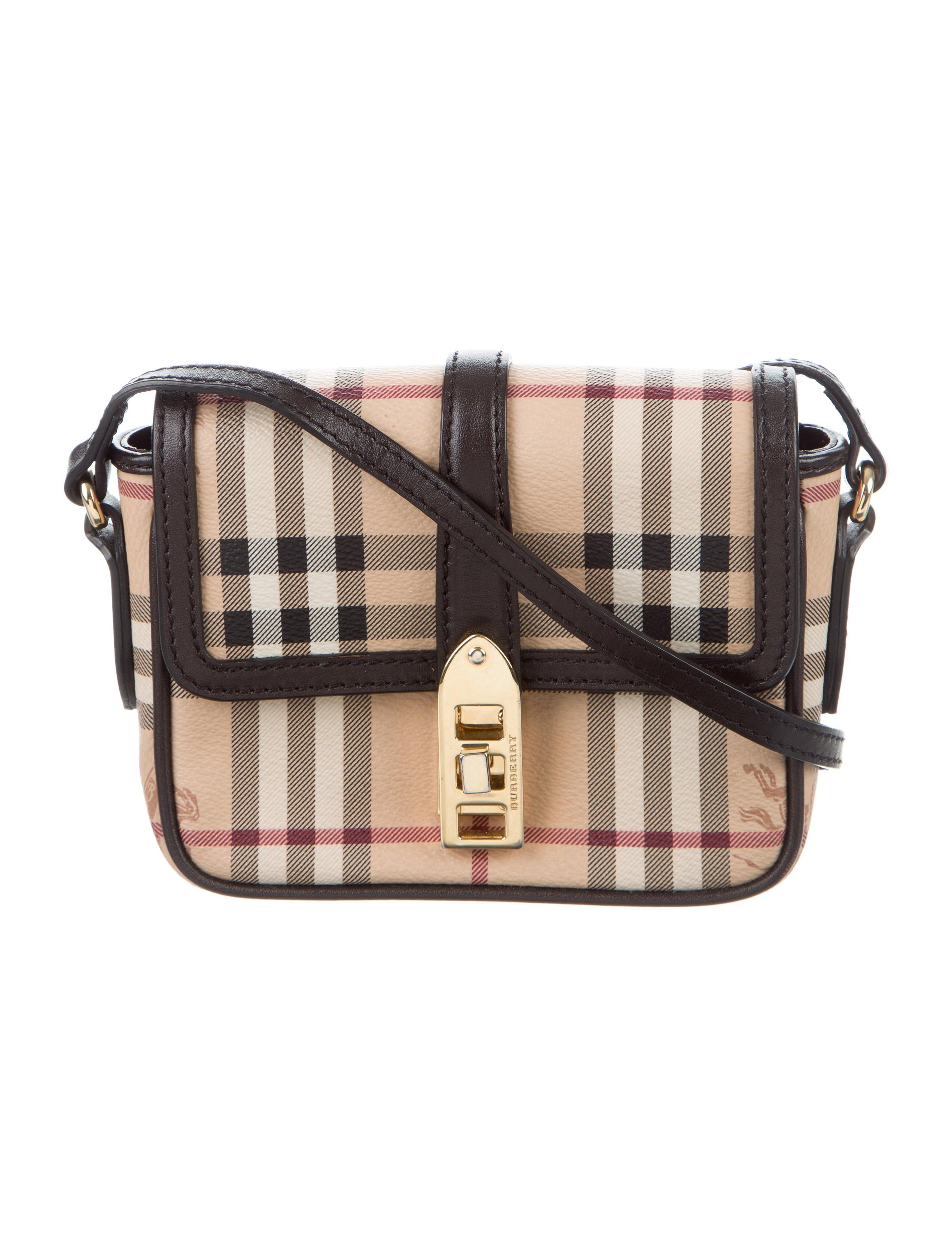 df2c1c687ccd Burberry Mini Berkeley Haymarket Check Crossbody Bag - Handbags ...