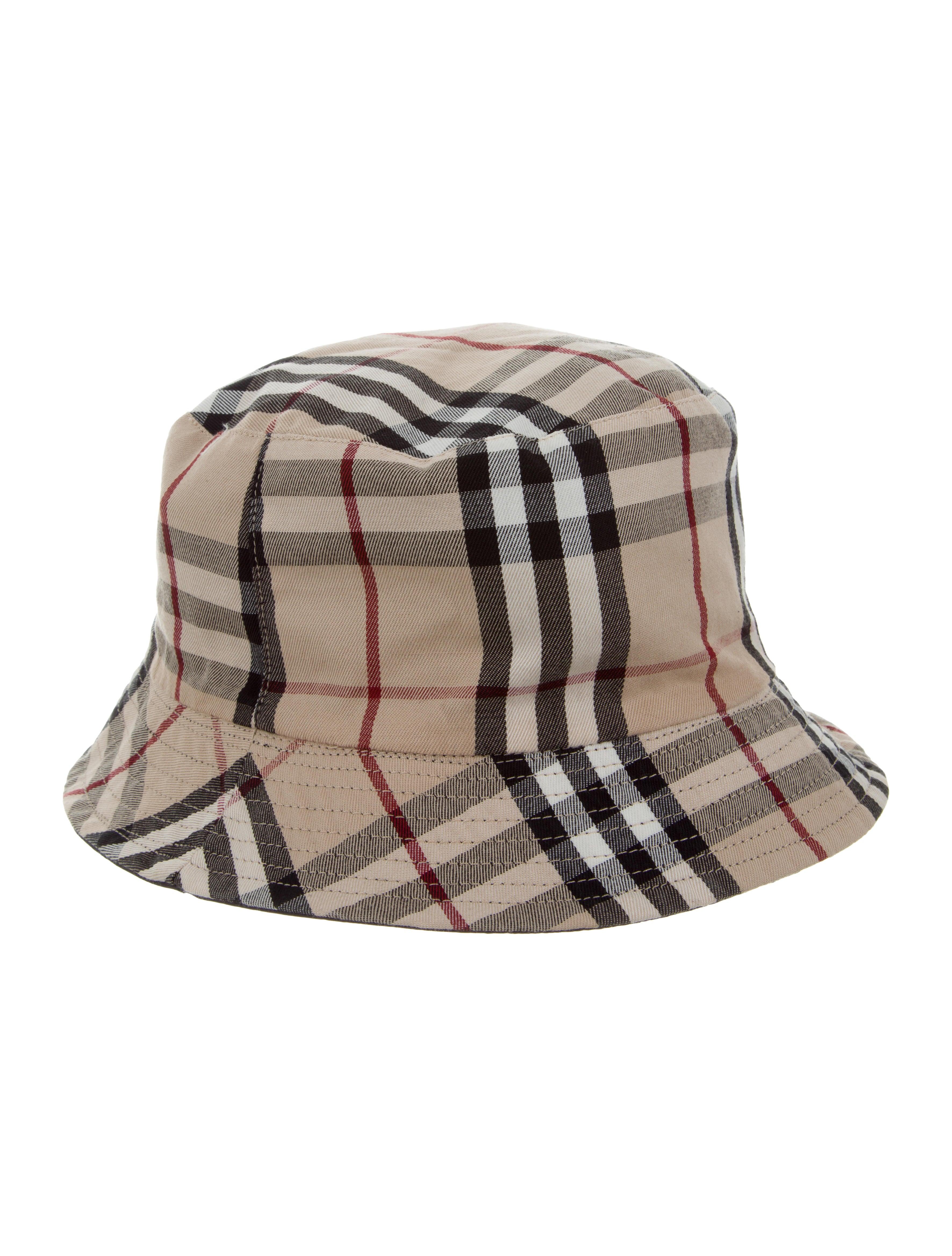0ddf3836e6e Burberry Nova Check Bucket Hat - Accessories - BUR82556