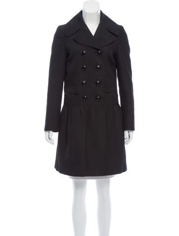 Burberry Double-Breasted Button-Up Coat None