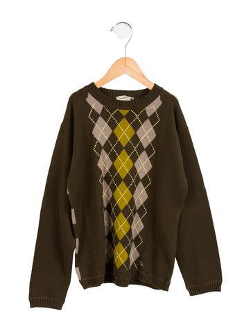 Burberry Boys' Argyle Sweater None