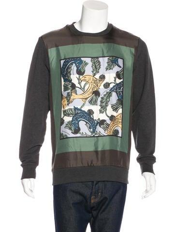 Burberry 2017 Silk-Paneled Printed Sweatshirt w/ Tags None