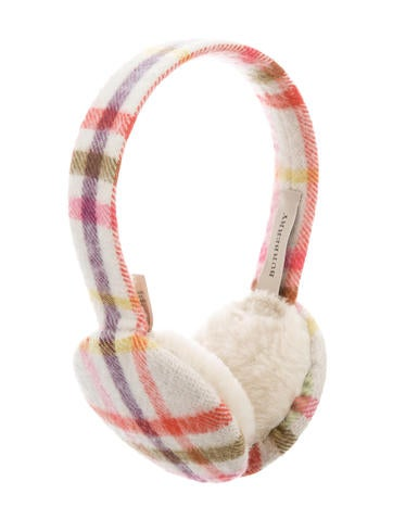 Burberry Cashmere Nova Check Ear Muffs None