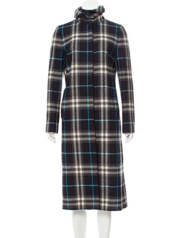 0fc85f5cf4c3 Burberry Plaid Wool Coat - Clothing - BUR83843