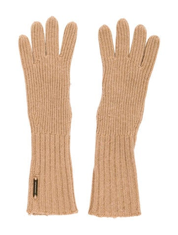 Burberry Rib Knit Mid-Length Gloves None