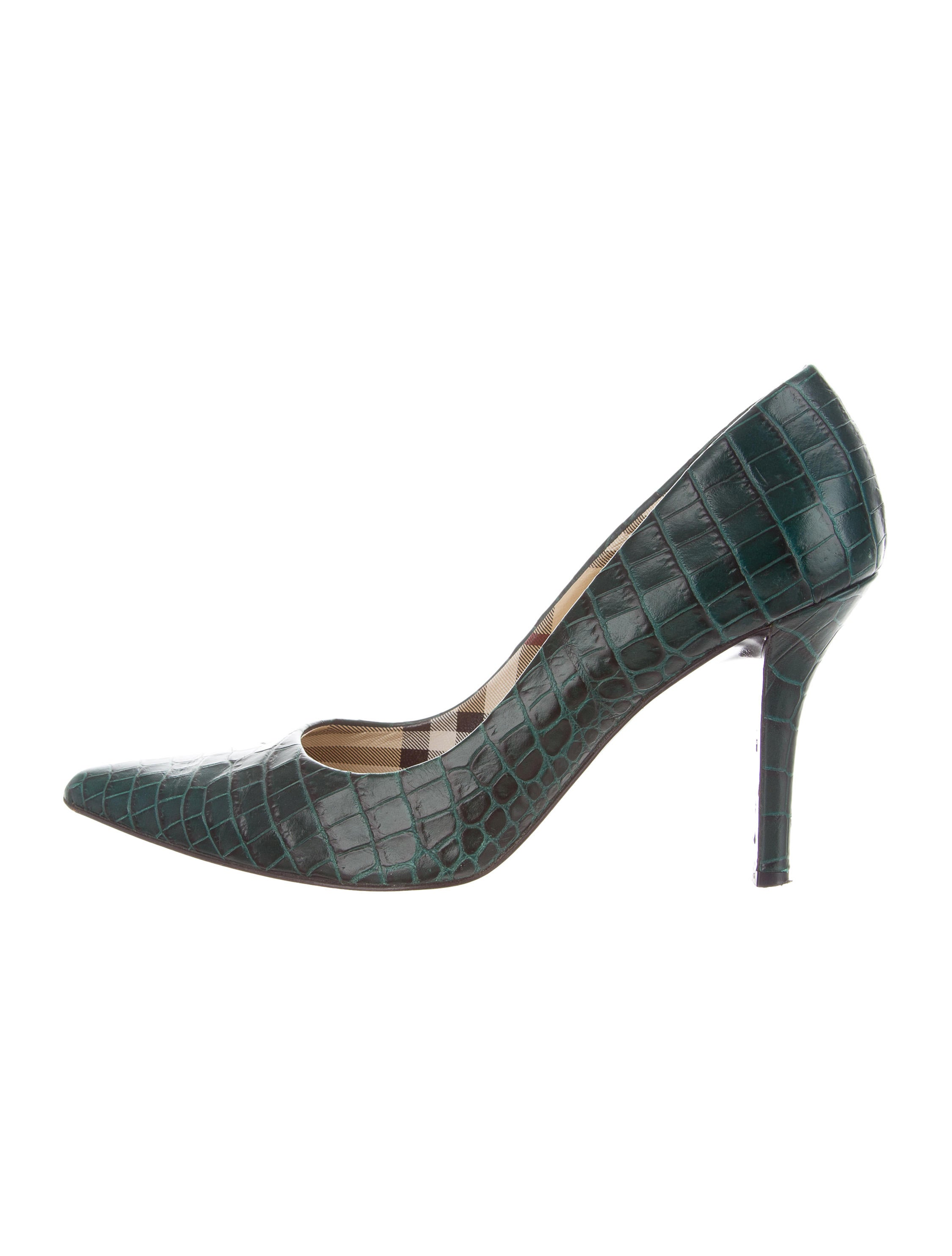 wide range of sale online Burberry Alligator Pointed-Toe Pumps best seller cheap price big discount for sale reliable cheap online TAcZ9P