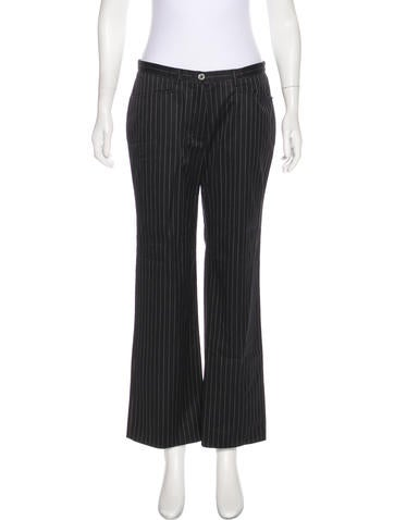 Burberry Golf Striped High-Rise Pants None