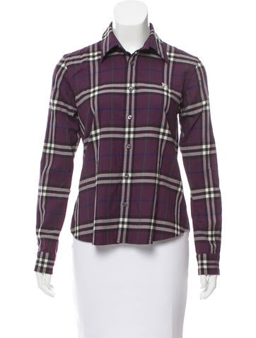 Burberry Patterned Wool Top None