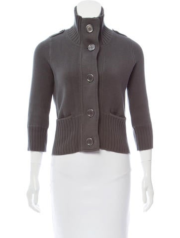 Burberry Cropped Knit Cardigan None
