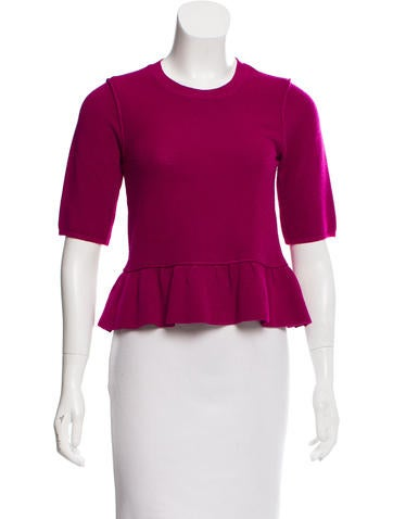 Burberry Knit Peplum Top None