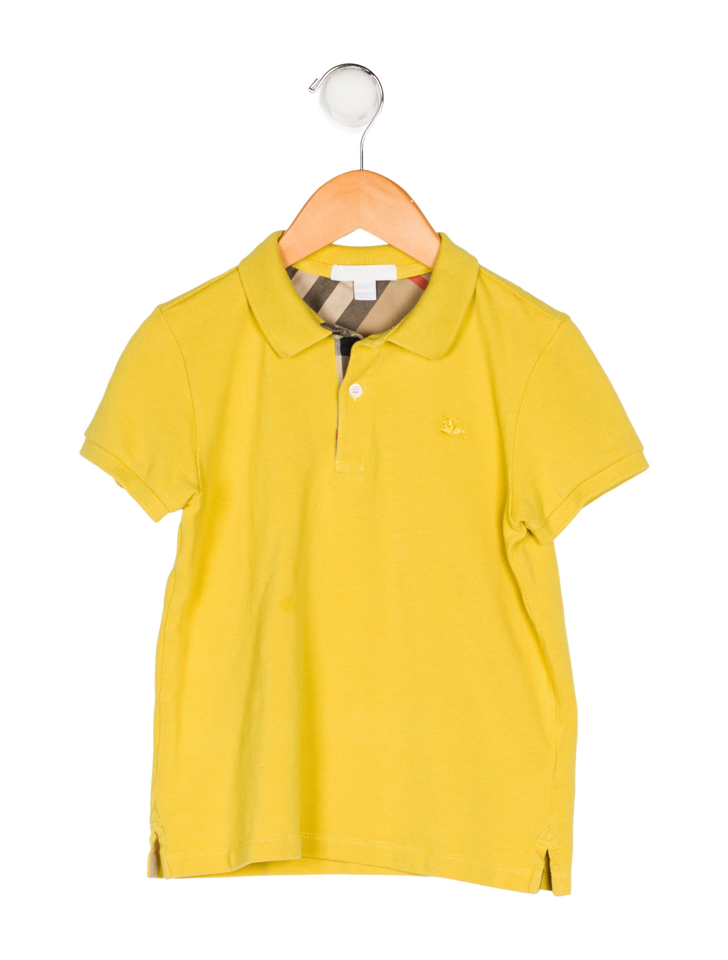 Burberry Boys Collared Polo Shirt Boys Bur87339 The Realreal