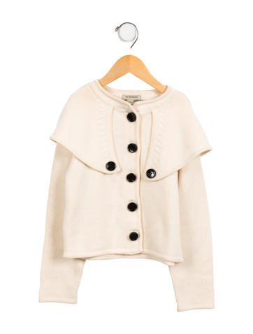 Burberry Girls' Wool Cape Cardigan None