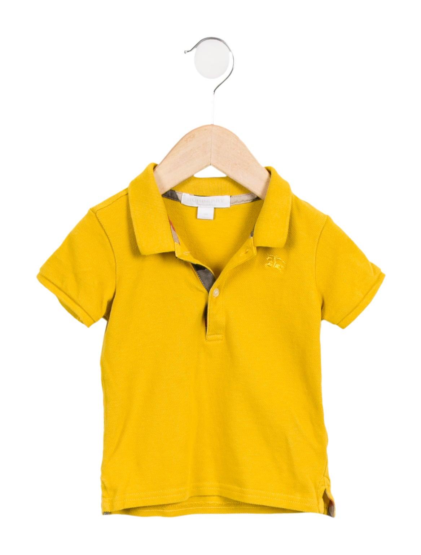 Burberry Boys Collared Polo Shirt Boys Bur88242 The Realreal