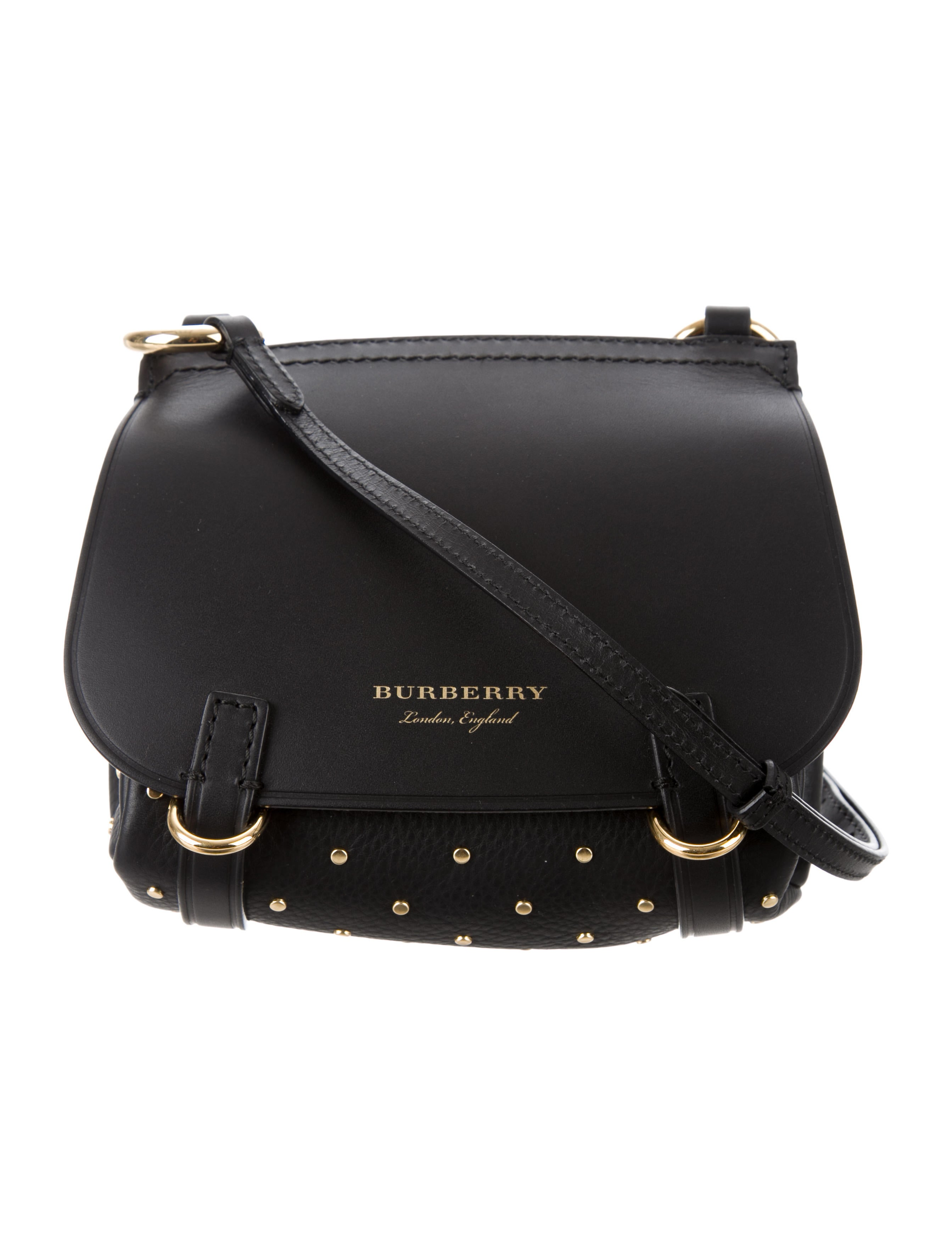 Burberry Riveted Baby Bridle Crossbody Bag - Handbags - BUR89137 ... bb1ff01e97502