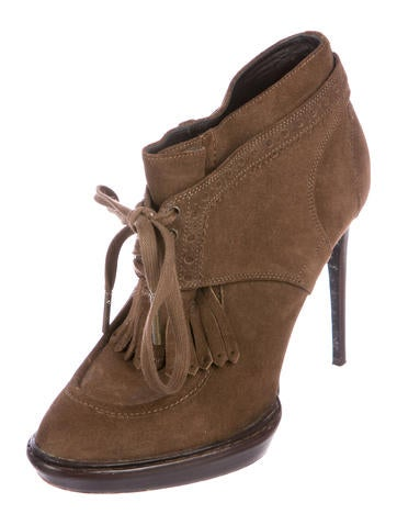 Burberry Suede Kiltie Booties