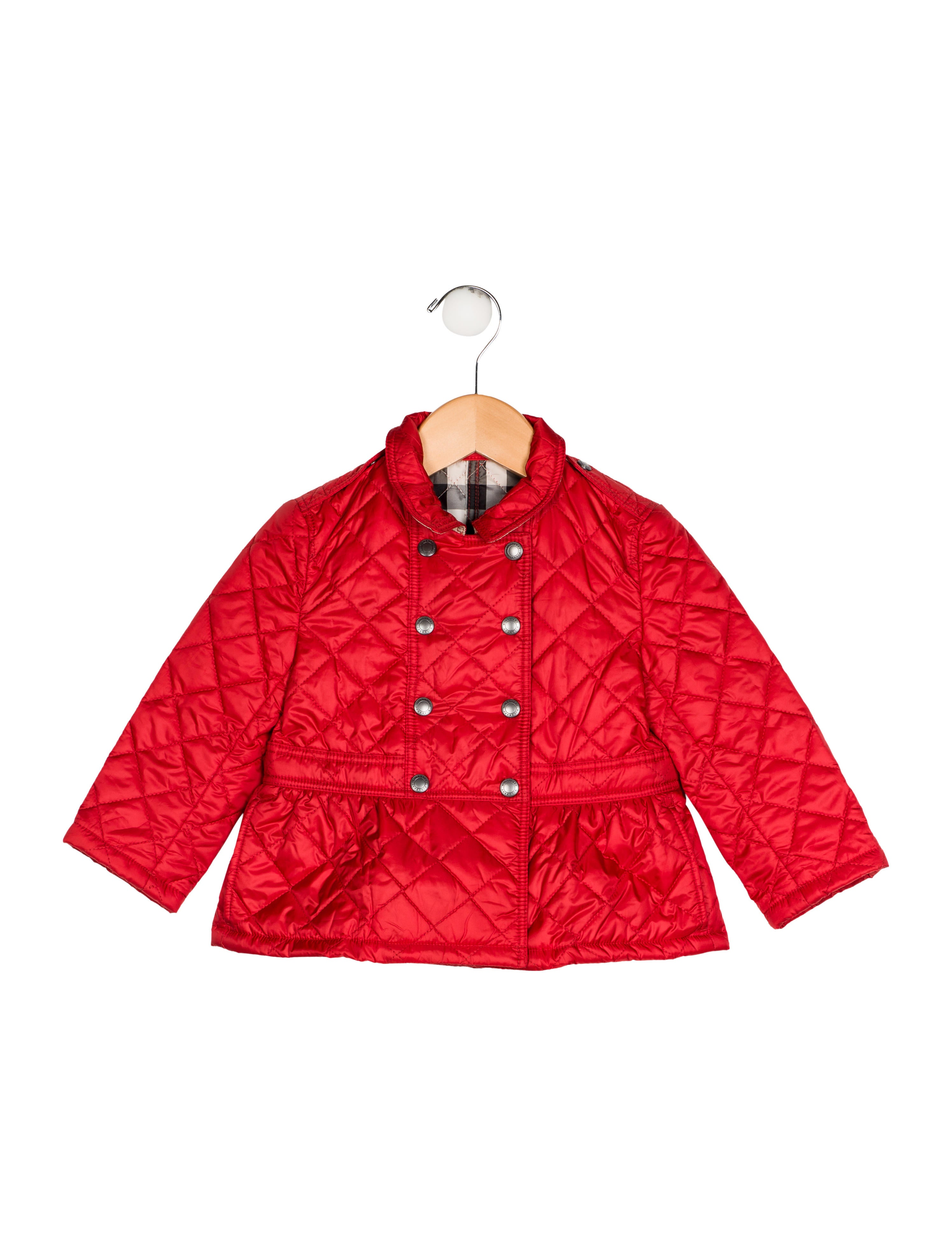 Burberry Girls Quilted Jacket Girls Bur90809 The Realreal
