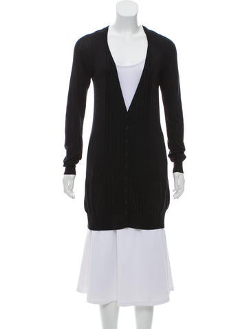 Burberry Silk Longline Cardigan None