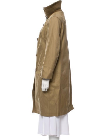 Layered Knee-Length Coat