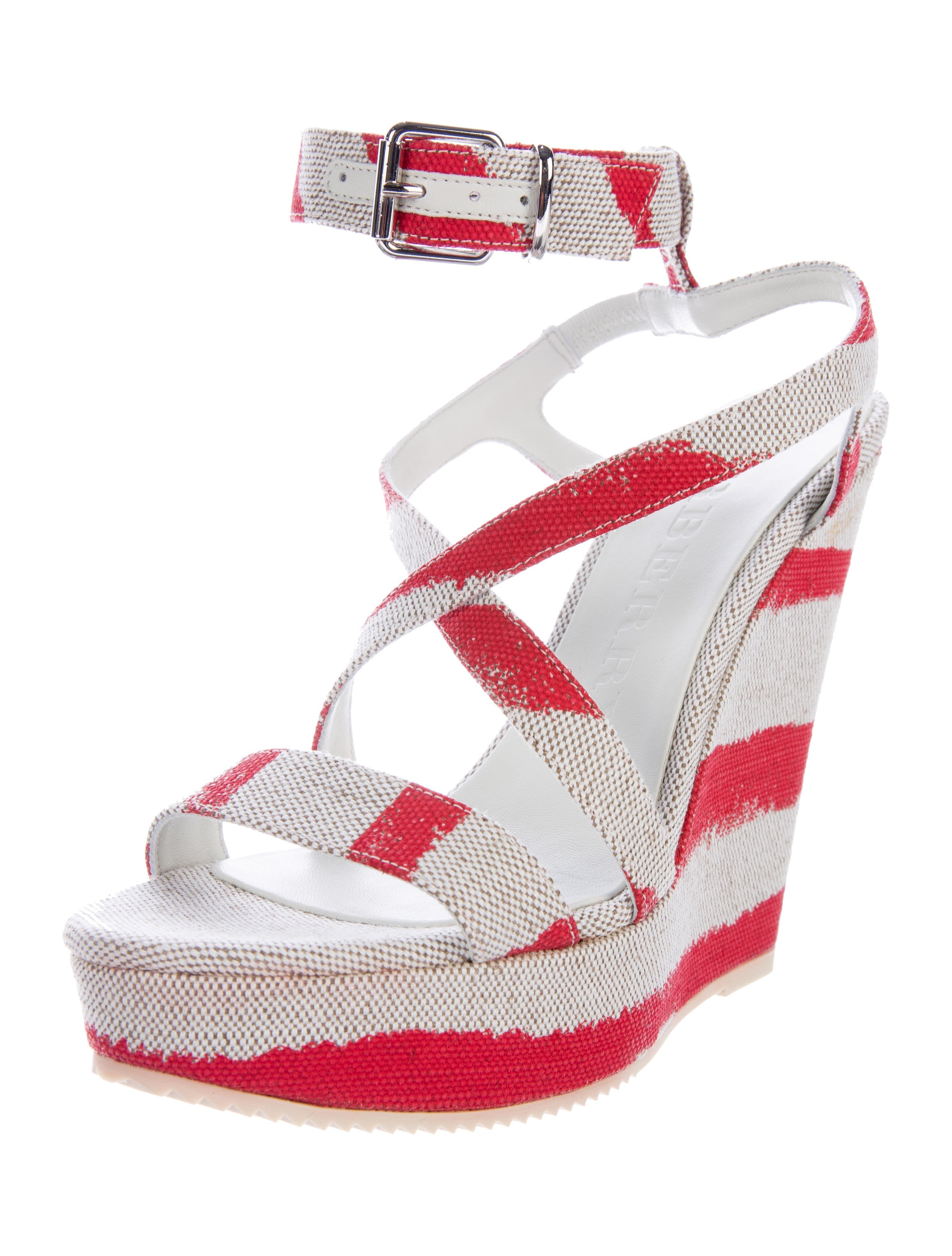 pay with visa online buy cheap manchester great sale Burberry Farrah Wedge Sandals w/ Tags very cheap price from china cheap online ITeZvk