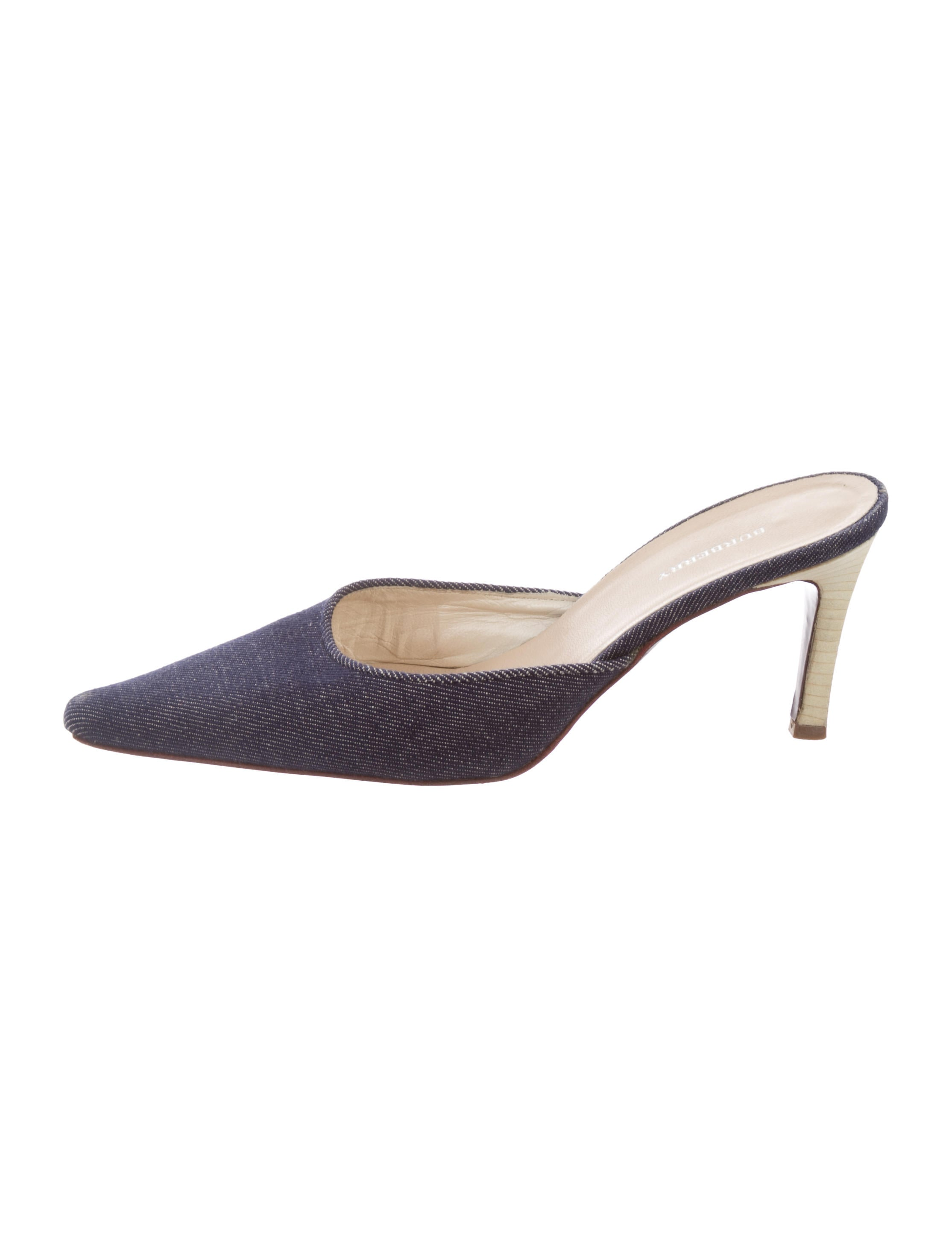 Burberry Denim Pointed-Toe Mules cheap sale discount discount hot sale cheap enjoy NuErd