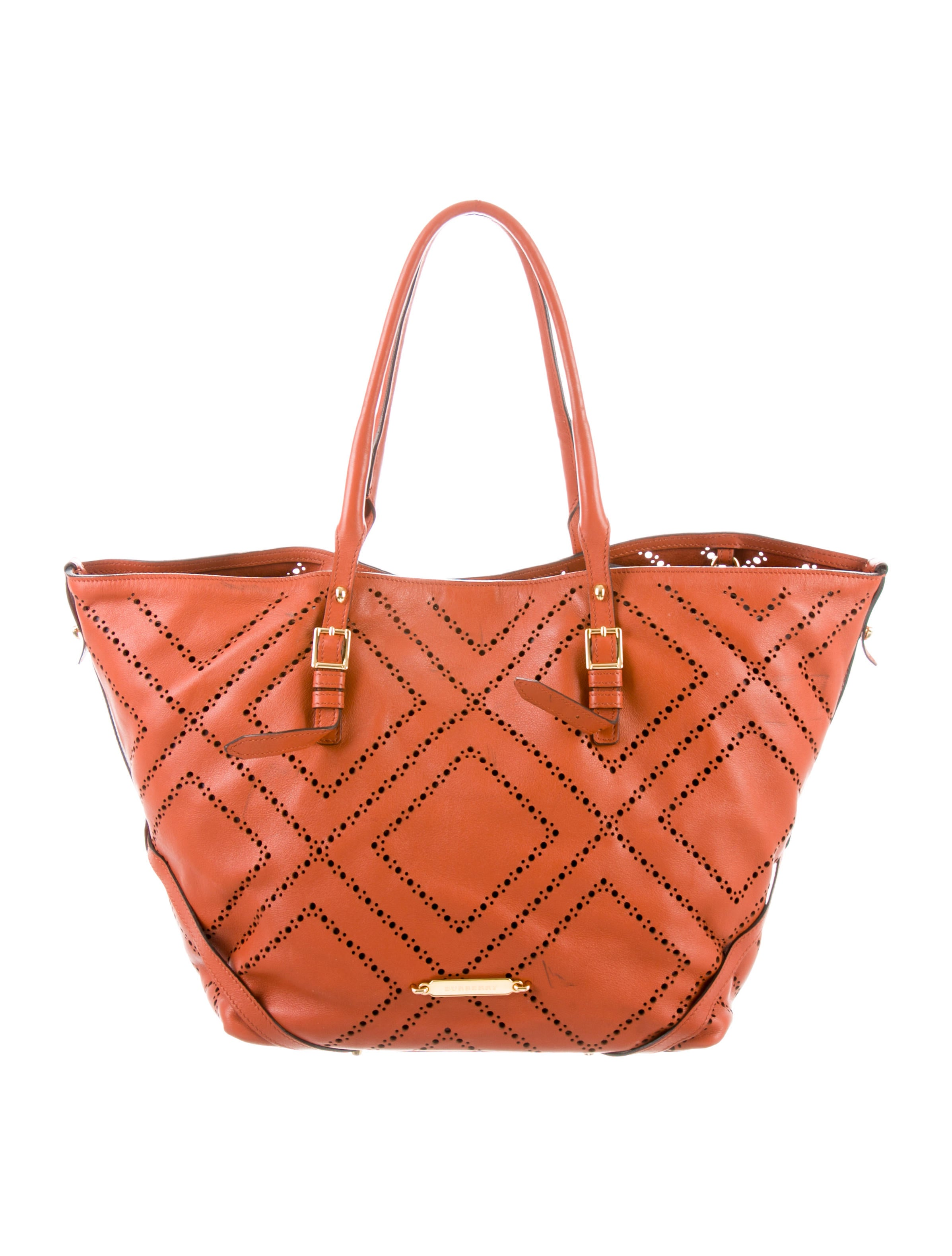 Perforated Leather Salisbury Tote