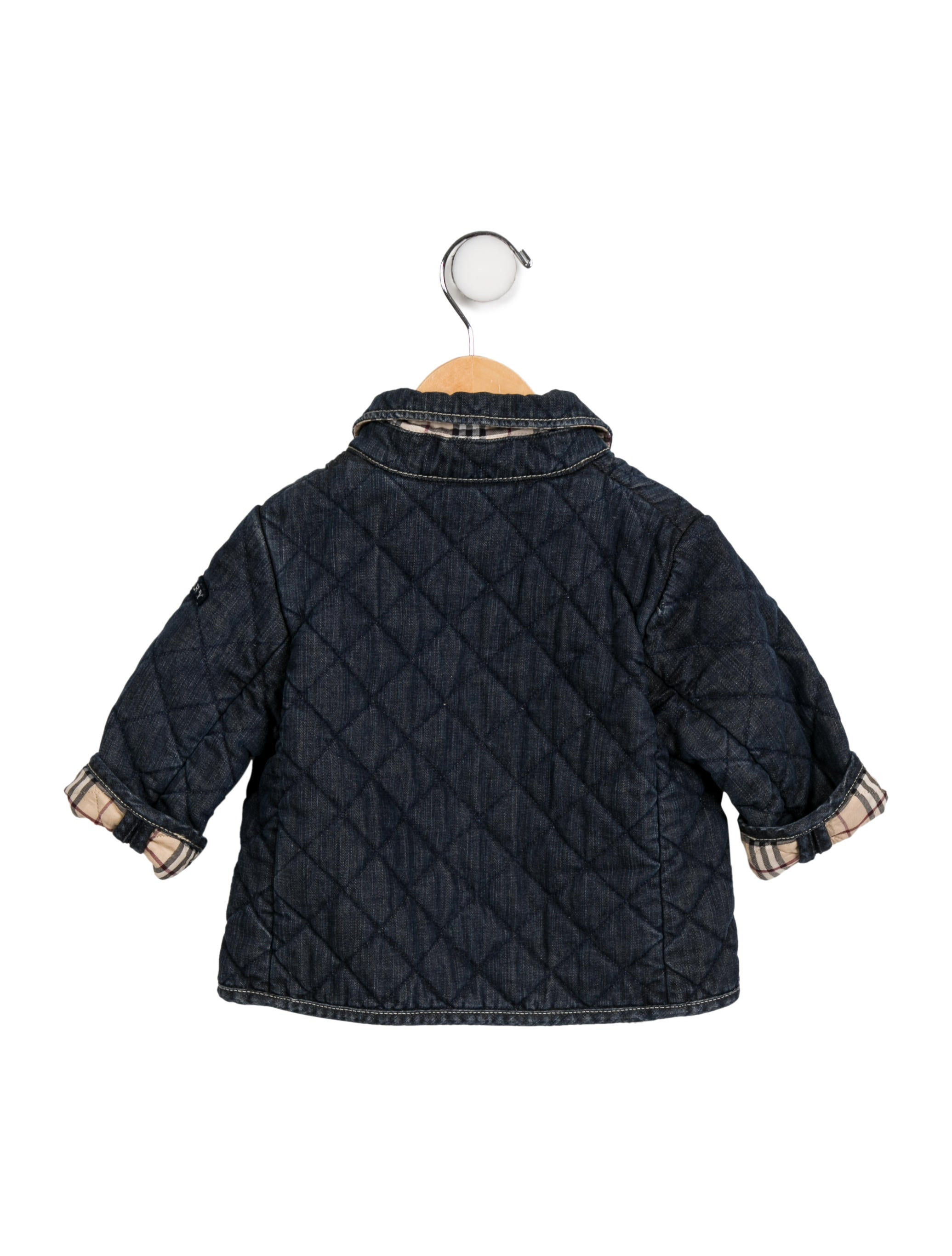 Burberry Boys Denim Quilted Jacket Boys Bur96005 The Realreal