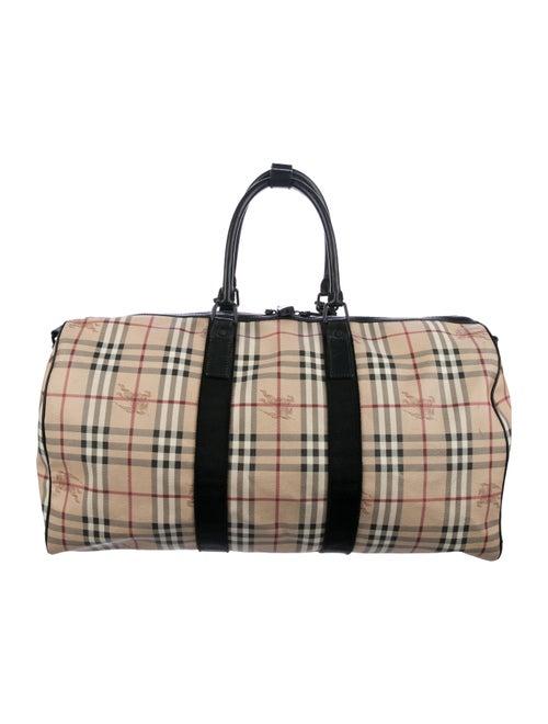 325945997c68 Burberry Haymarket Duffle Bag - Bags - BUR96597