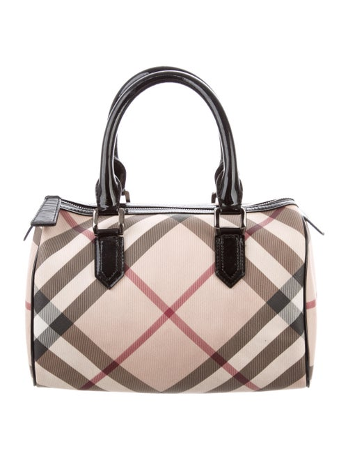 b713d7e5a89e Burberry Supernova Check Chester Bowling Bag - Handbags - BUR98467 ...