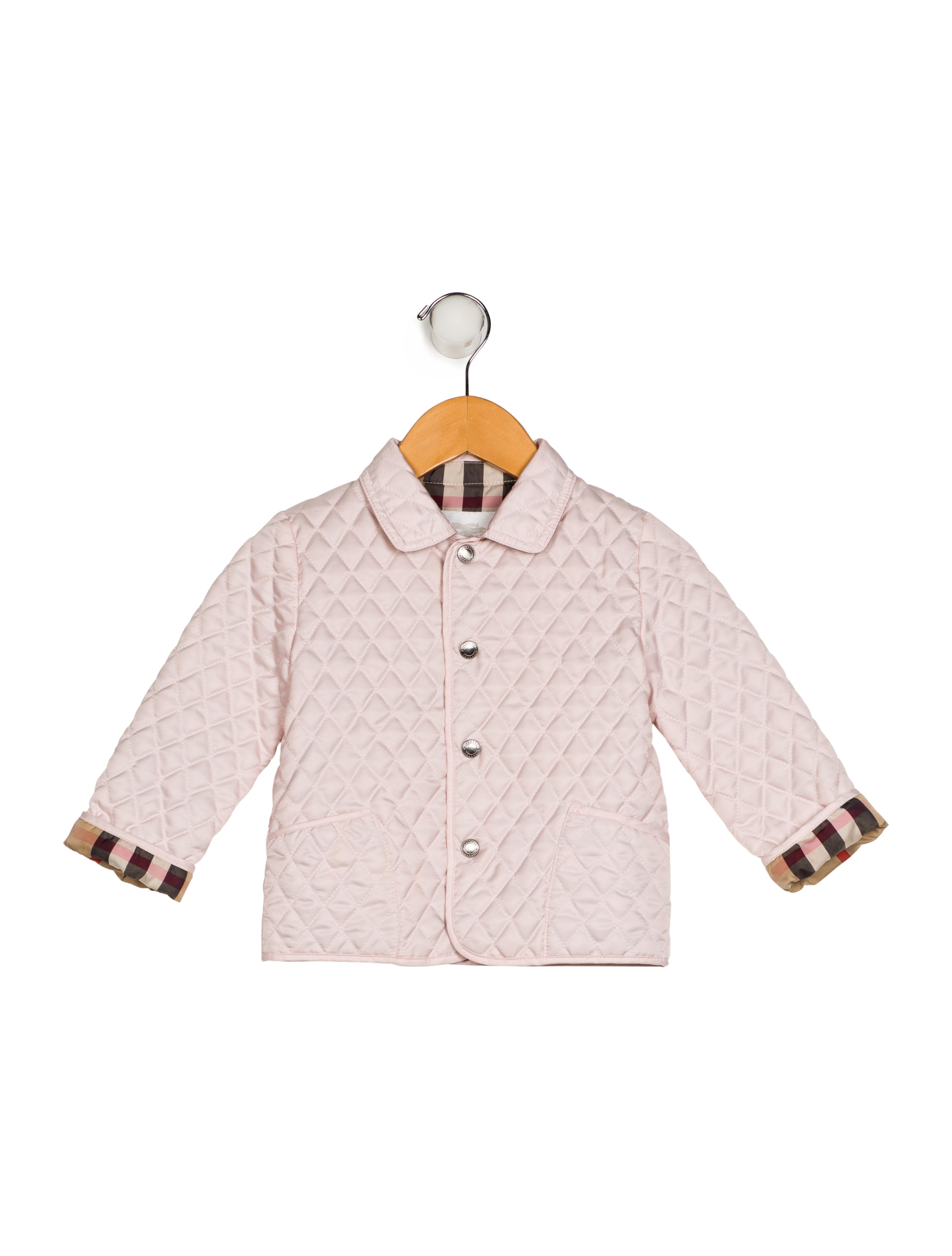 Burberry Girls Collar Quilted Jacket Girls Bur99007 The Realreal