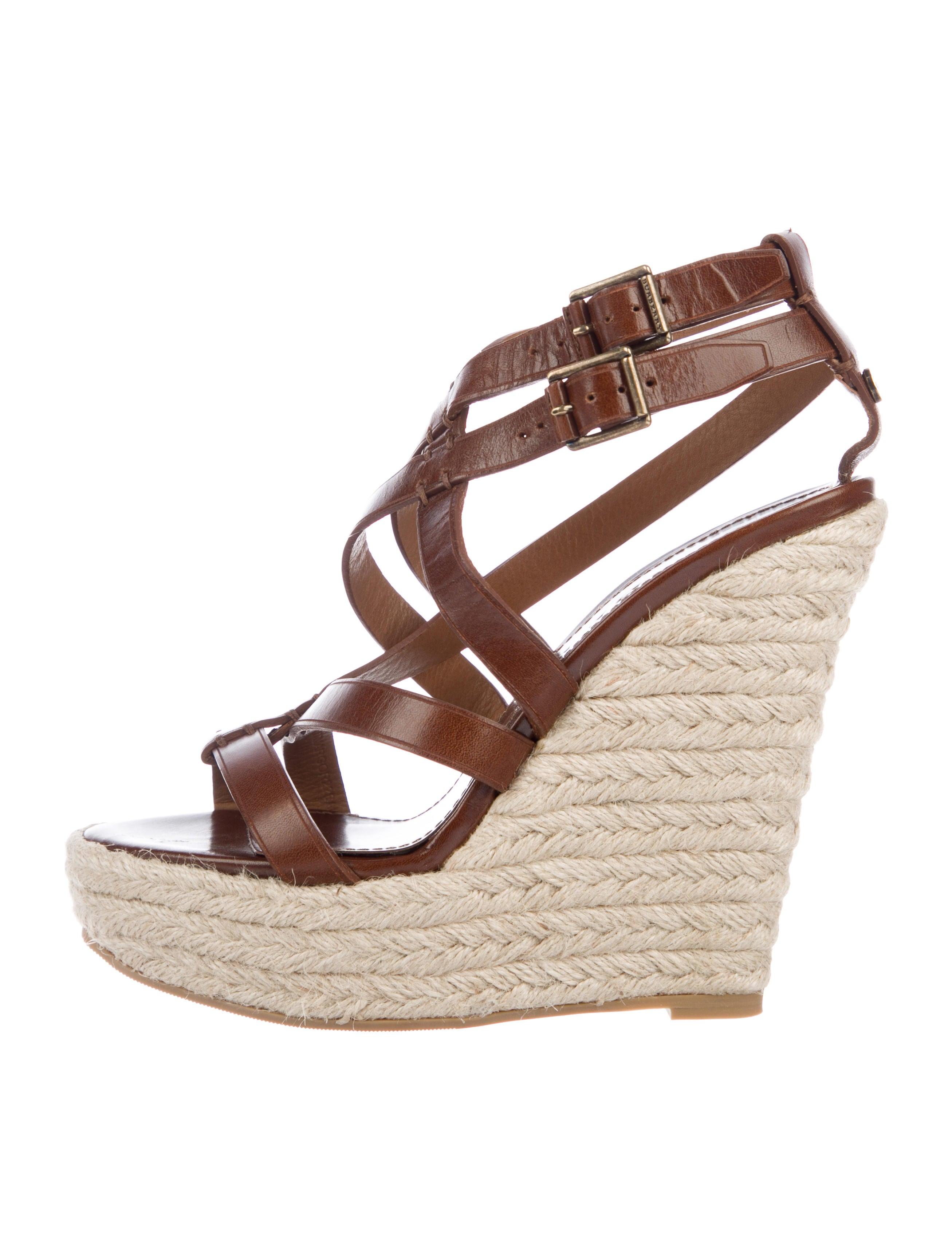 afc0e20160a Burberry Leather Platform Sandals - Shoes - BUR99225