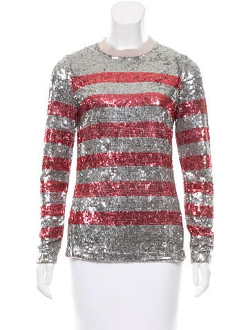 Beau Souci Sequined Silk Top w/ Tags None