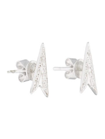 Pavé Arrow Studs