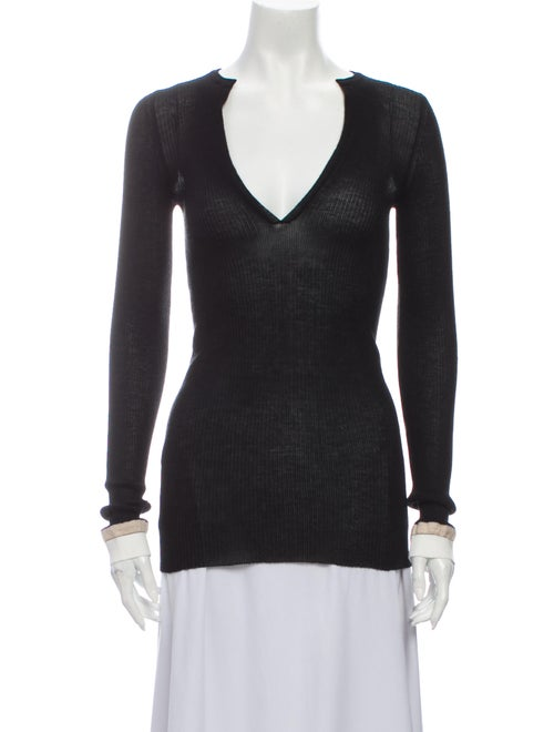 BY. Bonnie Young Wool V-Neck Sweater Wool - image 1