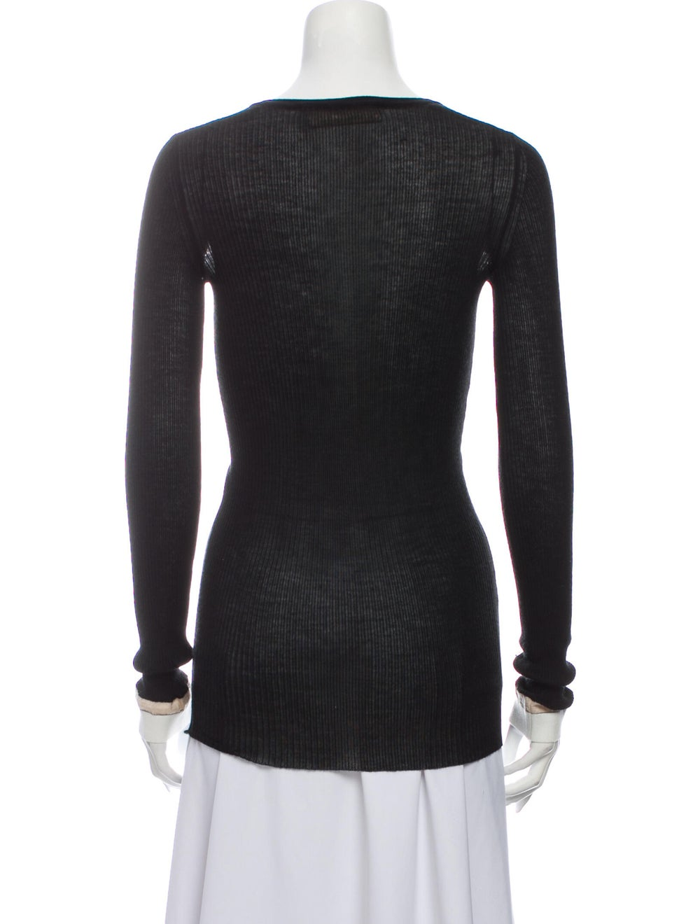 BY. Bonnie Young Wool V-Neck Sweater Wool - image 3