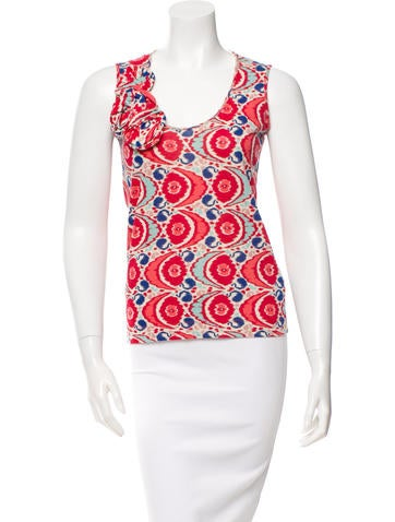 Cacharel Printed Sleeveless Top None