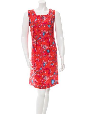 Cacharel Silk Printed Dress None