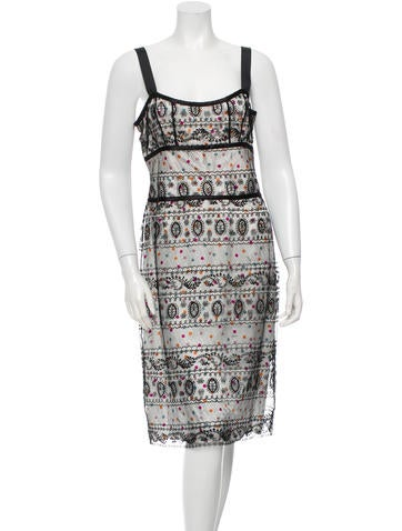 Cacharel Printed Lace Dress None