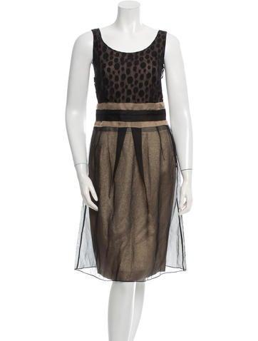 Cacharel Sleeveless Silk Dress None
