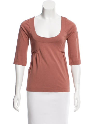 Cacharel Three-Quarter Scoop Top None