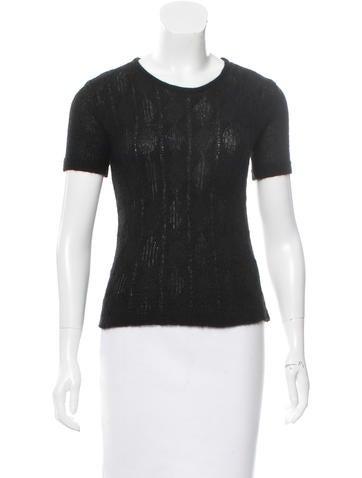 Cacharel Alpaca-Blend Short Sleeve Sweater None
