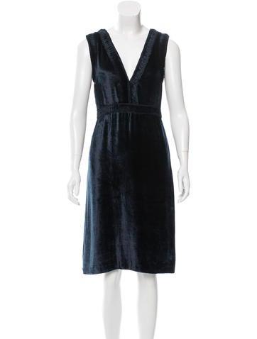 Cacharel Sleeveless Velvet Dress None