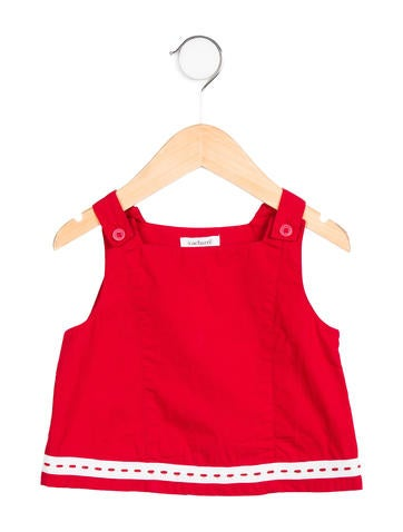 Cacharel Girls' Woven-Accented Sleeveless Top None