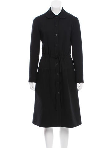 Cacharel Long Textured Coat None