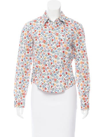 Cacharel Floral Print Button-Up Top None